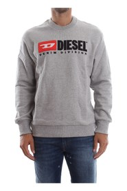 DIESEL 00SHEP 0CATK S-CREW-DIVISION sweater mænd GREY HEATHER