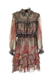 BRETON PAISLEY PRINT CHIFFON DRESS
