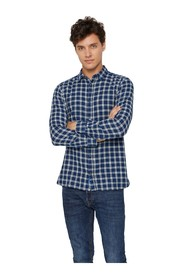 Check shirt with long sleeves