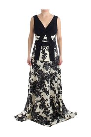Long Printed Gown Dress