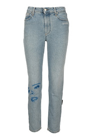 PRINTED FACE JEANS