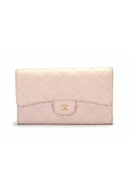 pre-owned Classic Flap Long Wallet in lambskin leather