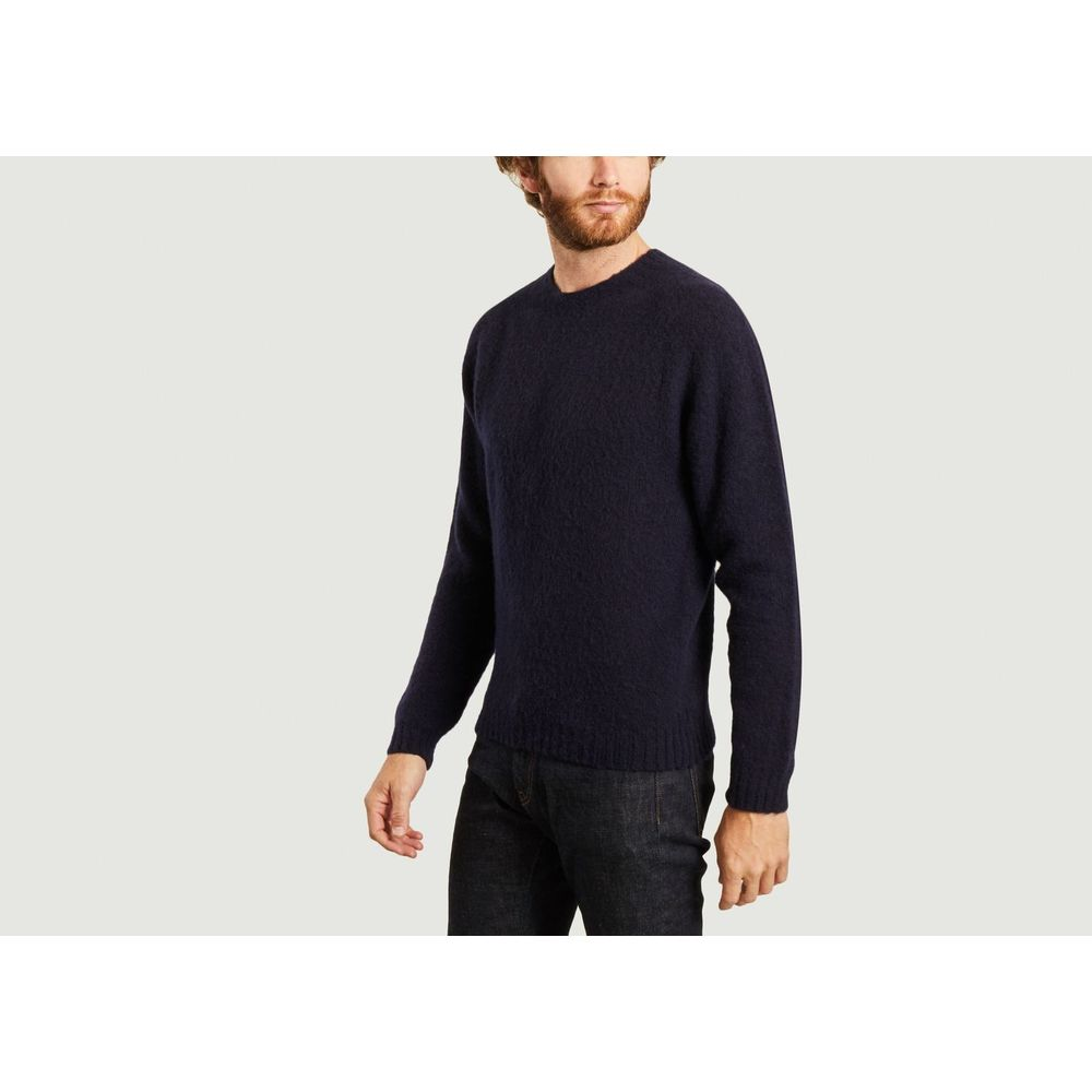 Norse Projects Navy Blue Birnir Brushed Lambswool Norse Projects