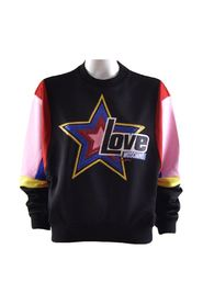 sweatshirt with sequins and multicolor inserts