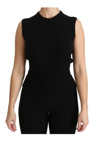 Crew Neck Sleeveless Cashmere Top