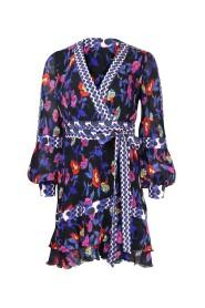Sol Ruffled Mini Wrap Dress