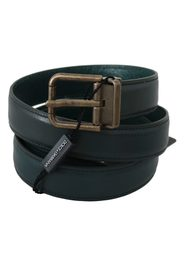 Calfskin Leather Gold Buckle Belt