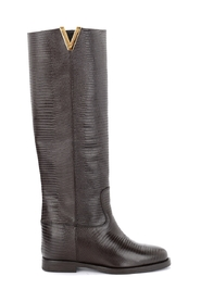 Boot with tejus and golden V print
