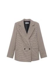 Wrap Check Suit Jacket