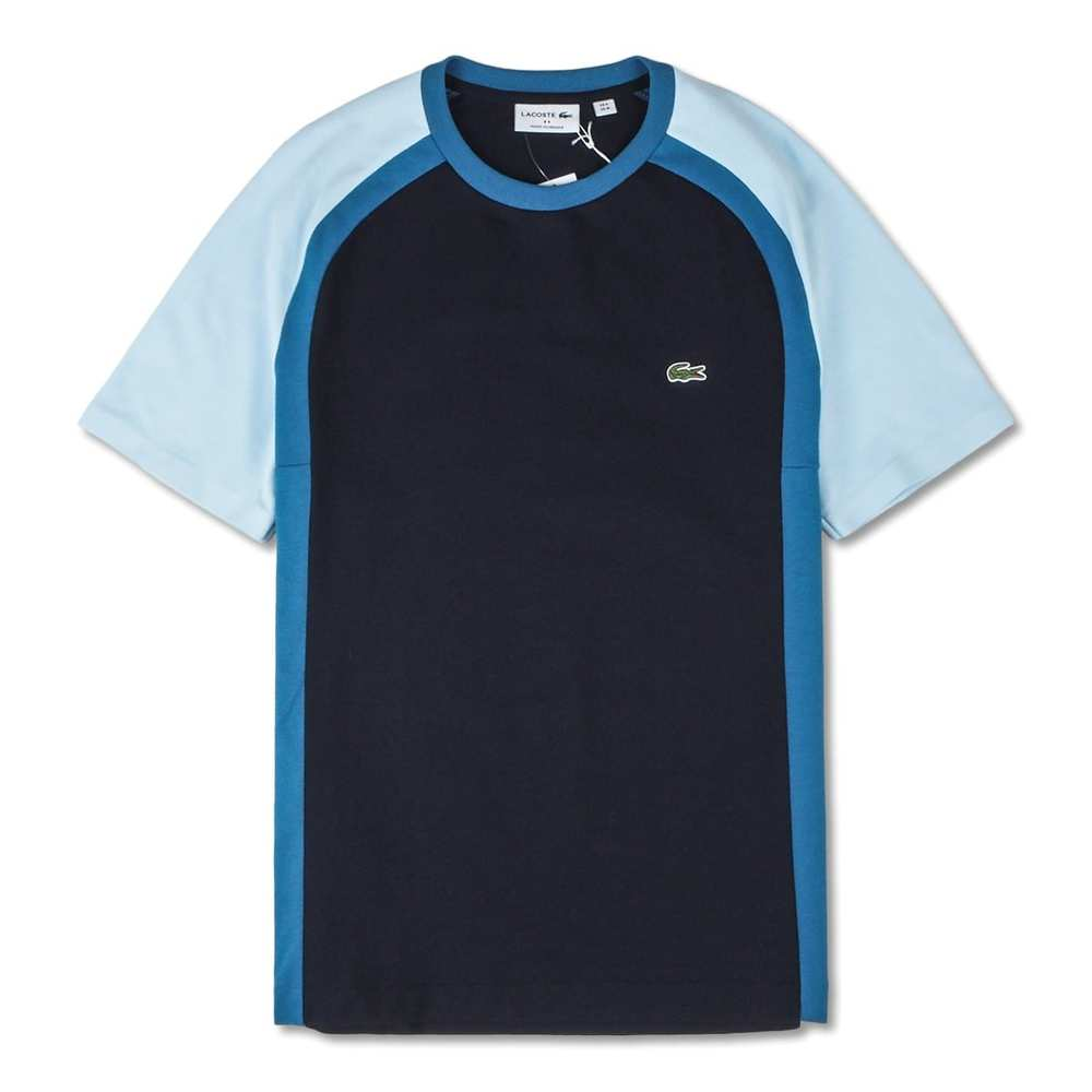 Mäns Crew Neck Technical Pique T-shirt