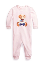 Baby Girl Coverall Bear