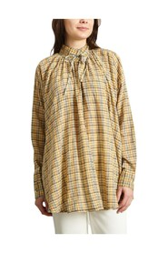 Wheel Chequered Blouse