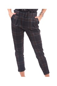 Trousers With Check Pattern - F120W10058W03895