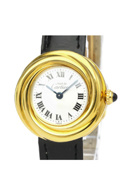 Pre-owned Cartier Must Trinity Quartz Gold Plated Women's