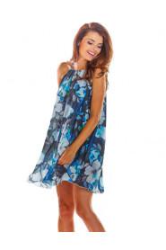 Sukienka szyfonowa w modne printy A289