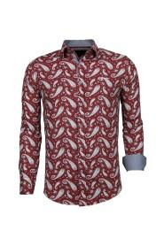 Italiaanse - Slim Fit Overhemd - Blouse Flower Pattern