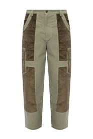Trousers with corduroy accents