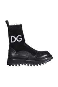 Logo Sock Ankle Boots