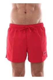 CALVIN KLEIN KM0KM00277 SHORT DRAWSTRING swimsuit  sea and pool Men RED