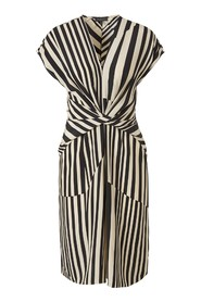 Beatrice Striped Silk Dress