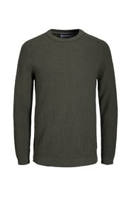 Knitted Pullover Plain round neck