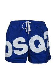 boxer swimsuit with white logo