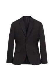 Slim fit jakke i hør
