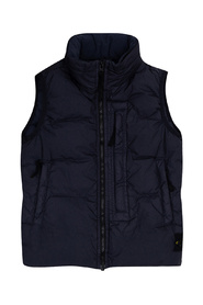 Vest with concealed hood