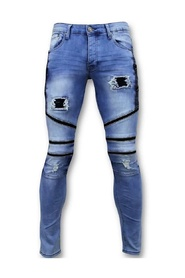 Coole Biker Jeans Heren Ripped