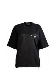Two-material T-shirt