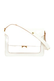 Leather Trunk Bag White