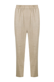 Elastic tapered trousers