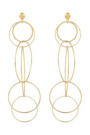 Torsade drop earrings