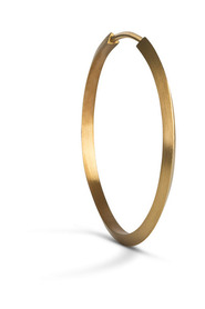 Midi Hoop, gold-plated sterling silver