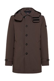 TREBBIO Quilted technical trench coat