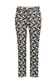 Ladies trousers with print - 6641-1-8086