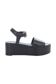 HIGH PLATFORM SANDALS WITH BELT ON ANKLE AND ONE BAND