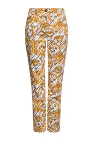 Barocco-printed jeans