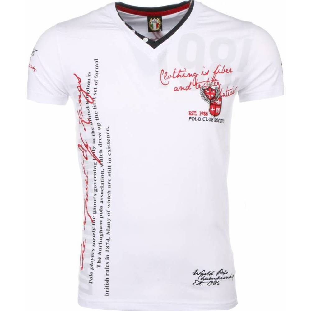 Italiaanse T-shirt - Korte Mouwen Heren - Borduur Polo Club