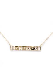 Atlas Pink Gold (18K) Diamond Pendant Necklace