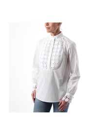 Lace plastron shirt