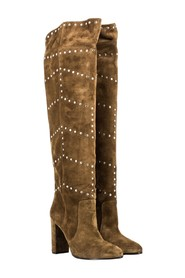 Marten velor boots with studs