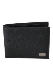 Bifold Card Holder Bill Slot  Leather Wallet