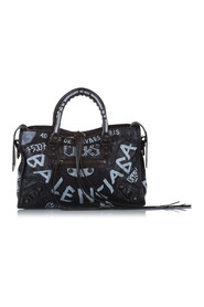 Litet Motocross Graffiti Classic City Satchel Lammskinn