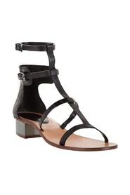 Pattern Cross T-Strap Sandal