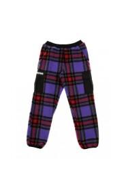 Long Furry Tartan Pants