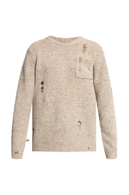 Sweater with holes