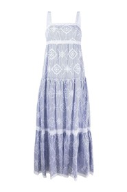 Dress with Graphic Embroidery