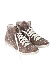 Suede STUDDED SNEAKERS High Back