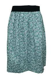 Emerald Floral Midi Skirt -Pre Owned Condition Very Good